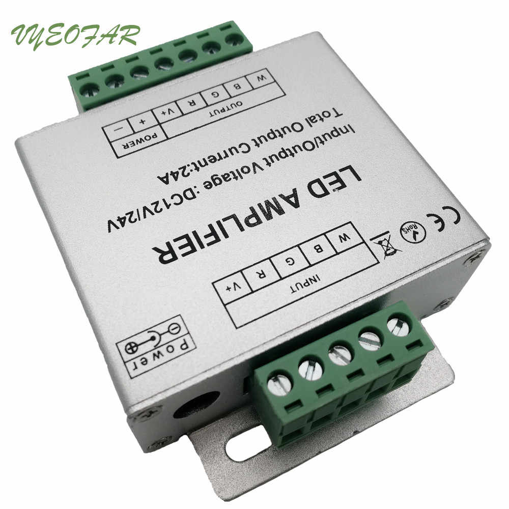 Amplificateur de répéteur de puissance LED RGBW 12 V-24 V boîtier en aluminium 24A RGBW amplificateur de bande de LED pour SMD 3528 5050 LED RGBW