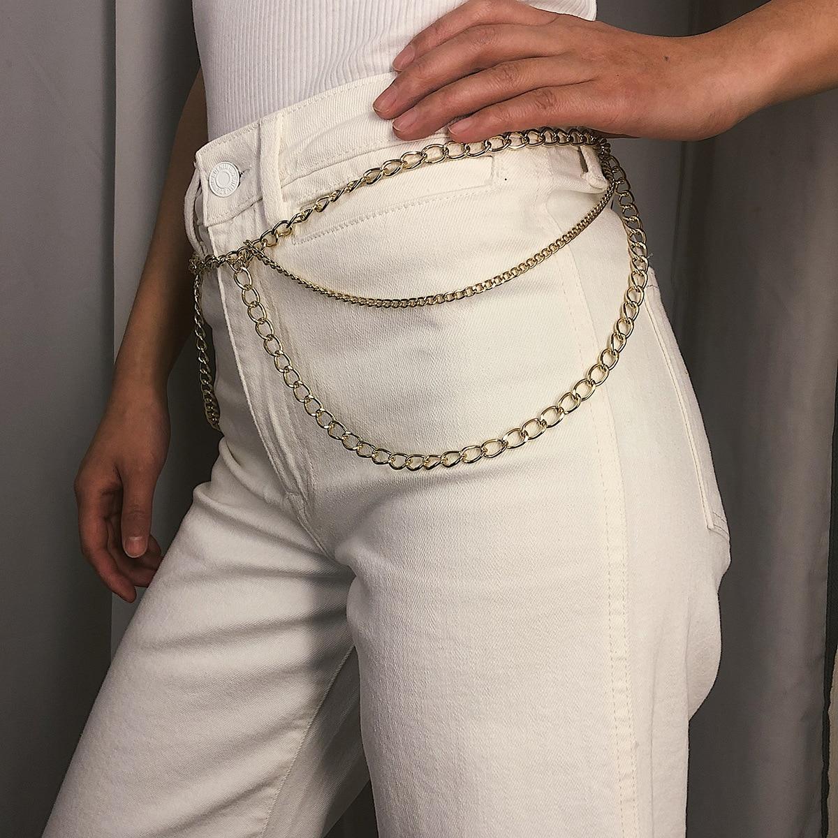 Body-Chain-Belt Jeans Belt Dress Waist-Chain Metal Female High-Quality Fashion Women