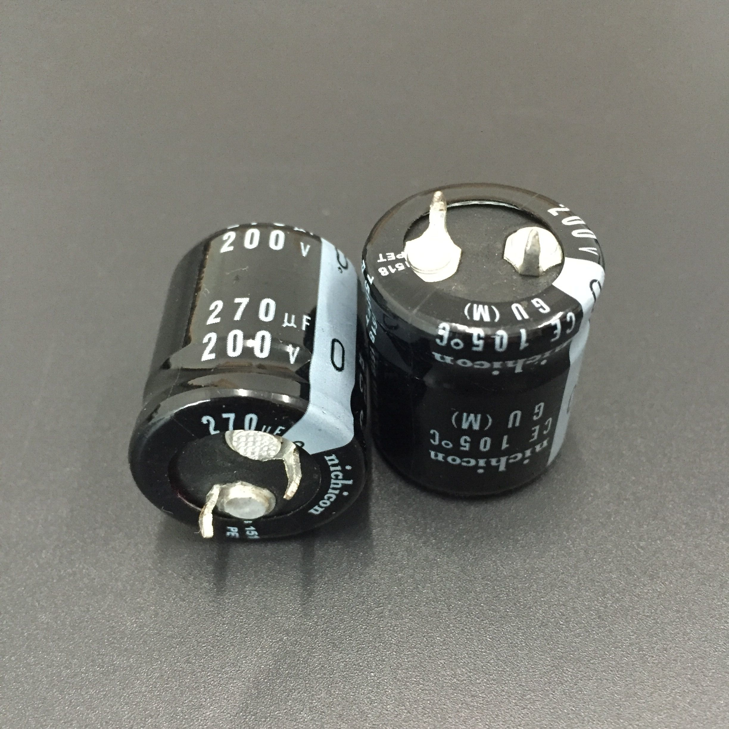 2PCS/10PCS 270uf 200v Nichicon GU 22x25mm 200V270uF Snap-in PSU Capacitor