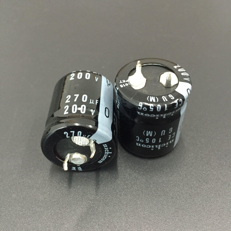 10PCS 560uf 200v Nichicon Gu 25x30mm 200V560uF Snap-en Condensador de PSU