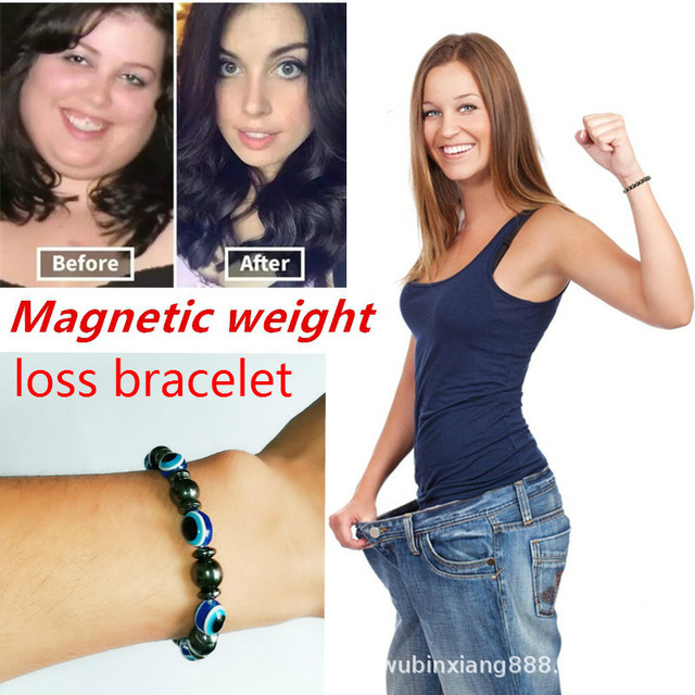Adjustable Weight Loss Magnetic Therapy Bracelet Therapy Slimming Hand Chain Hematite Stretch Magnet Bracelets Health care slim 2