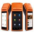 Wireless bluetooth de la impresora térmica de 5.5 pulgadas micro usb sim puerto de auriculares android sistema wifi gprs bluetooth impresora de recibos