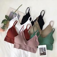New invisible underwear wild color sexy no steel ring beauty back U-type student basic thread bottoming lingerie bra tube top 1
