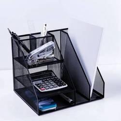 Home Office Desktop Office storage File Tray Rack Organizer Sorter Black Metal Mesh