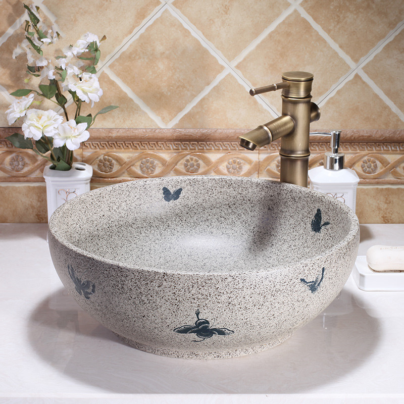 western antique ceramic colored bathroom 12375
