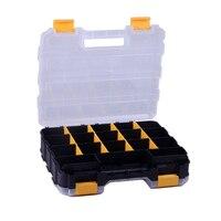 12 인치 도구 상자 양면 오픈 플라스틱 휴대용 부품 도구 상자 분류 구성 요소 상자 320x270x80mm