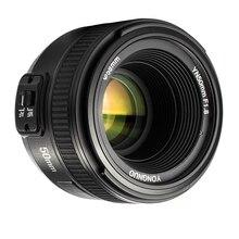 Yongnuo yn yn50mm f1.8 ef 50mm f/1.8 lente af yn50 grande abertura foco automático para nikon dslr câmeras
