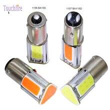 10pcs Car Bulb 1156 BA15S 1157 BAY15D BA15D Canbus P21W P21/5W LED Lamp Brake Reverse Turn Signal Light for VW Touran Error Free