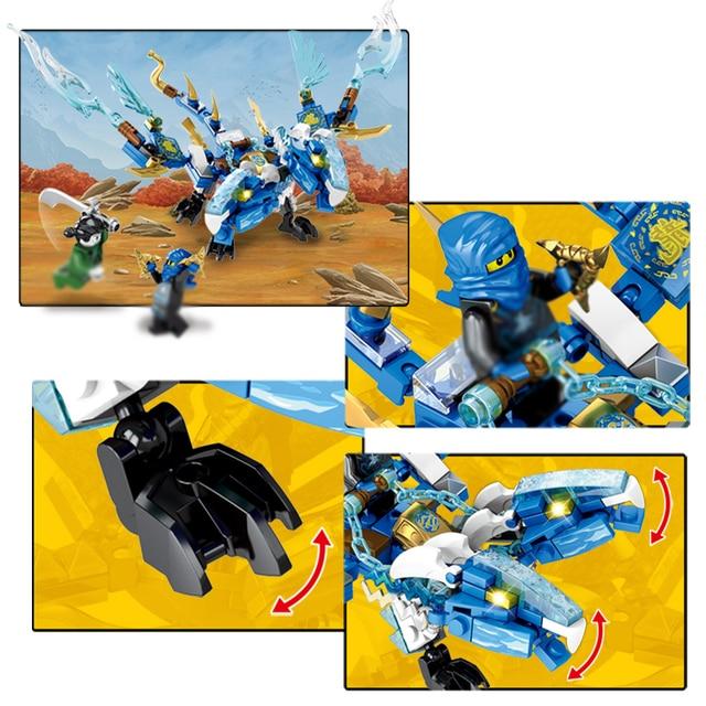 174pcs+ Sembo Dragon Ninjagoes Building Blocks Compatible Legoed mini figures knight Ninja enlighten Toys for children friends
