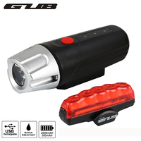 GUB Bicycle Light Set For Bike Cost effective front and rear lighting gift box MTB Cycling LED Safety Running Lamp Accessories