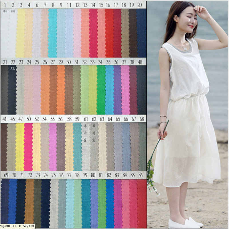 Flax Linen fabric 100% French Linen Multicolor use dress skirt  Bed  L1H09