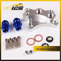Auto Oil Block Adapter Suit For Nissan SR20DET S13 S14 S15 SR20DE Engines