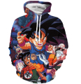 Cute Kid Goku 3D Sweatshirts Women Men Casual Long Sleeve Outerwear Anime Dragon Ball Z Hoodies Hooded Sweatshirt