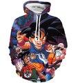 Goku Garoto bonito 3D Camisolas Dos Homens Das Mulheres Casuais Hoodies Moletom Com Capuz de Manga Comprida Casacos Anime Dragon Ball Z