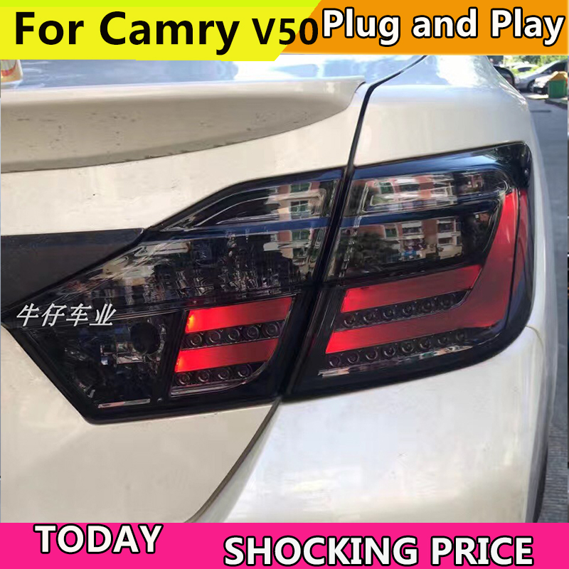 doxa Car Styling for Toyota Camry V50 Taillights 2012 2013 2014 Camry LED Tail Light Aurion