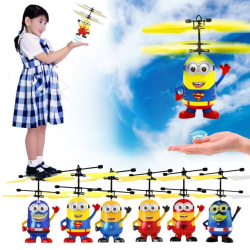 Top Sale ! Minion Plane Toy Movie Figure Very Funny Induction Flying Toy Upgrade RC Despicable Me Helicopter Quadcopter Drone yizhan i8h 4axis professiona rc drone wifi fpv hd camera video remote control toys quadcopter helicopter aircraft plane toy
