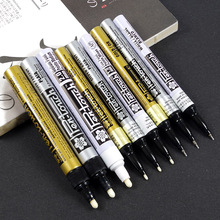 9 pcs Metallic color marker pens Silver Gold White permanent ink Extra fine Fine Medium point  Stationery School supplies FB863