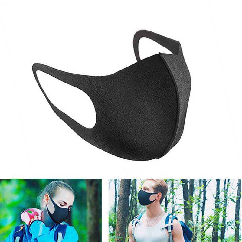Bekleidung Zubehör 1 Pcs Anti Staub Mund Maske Baumwolle Mischung 3-schicht Nase Schutz Maske Schwarz Mode Reusable Masken Für Mann Frau #15