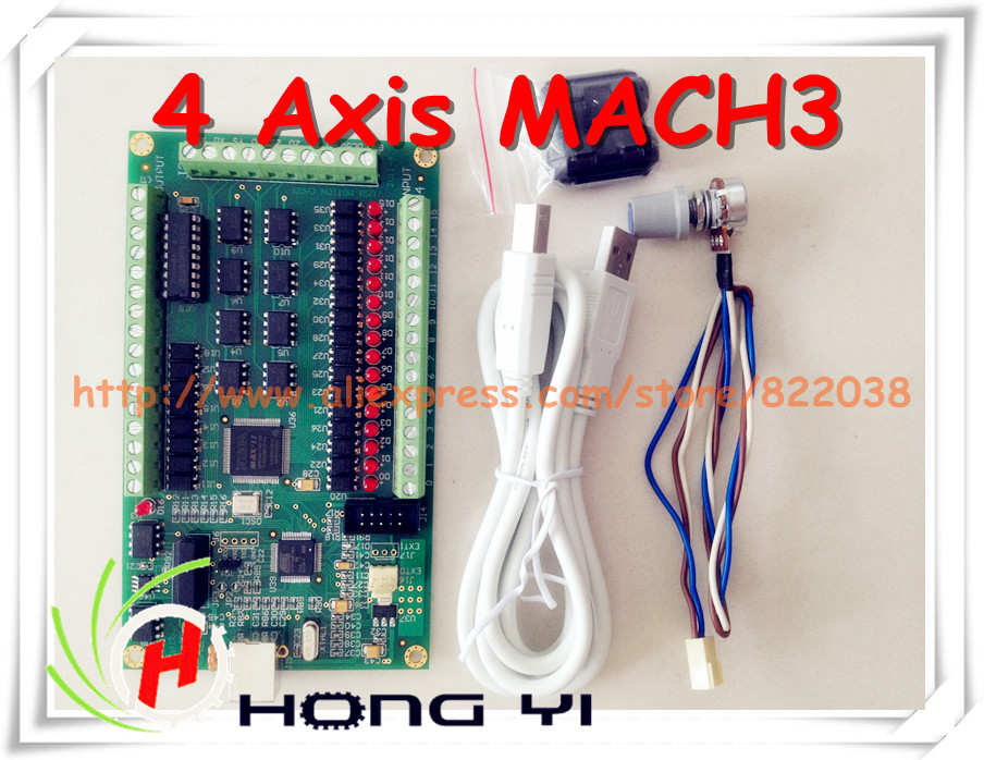 4 Axis MACH3 CNC USB 200KHz Breakout Board Interface Card for Routing Machine windows2000/xp/vista/7 cnc milling machine ethernet mach3 interface board 6 axis control