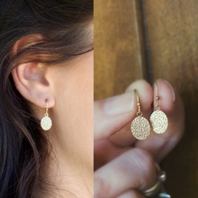 Mini Circle Vintage Bohemia Dangle Earring Hammered Disk Gold Filled Drop Earrings For Women Girls Jewelry Gifts