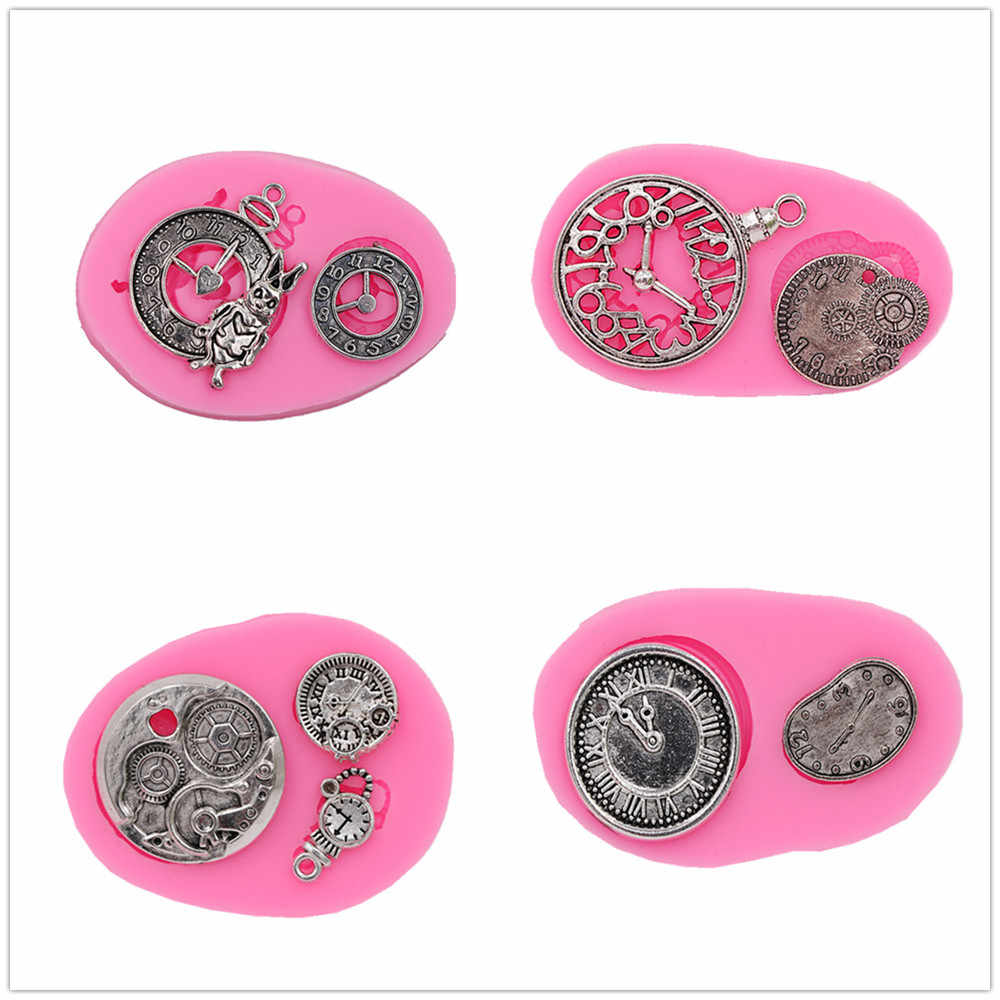 4 kinds of watches turned sugar cake silicone mold chocolate crafts gadgets dessert decorating tools DIY pastry baking mold new