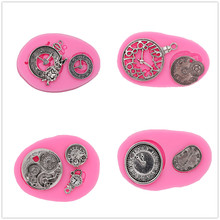4 kinds of watches turned sugar cake silicone mold chocolate crafts gadgets dessert decorating tools DIY pastry baking mold new silicone butterfly style baking mold dessert pastry decorating tools
