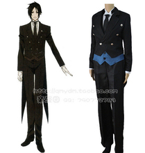 Sebastian Michaelis Cosplay Costumes Anime Black Butler Cosplay Tuxedo (Blazer + Vest + Shirt + Pants + Necktie + Gloves)