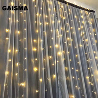10M x 4M Icicle LED Curtain Lights Garland Christmas Decorations Wedding Lights Party Home New Year Holiday Decor Lighting