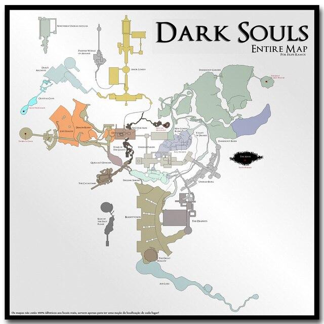 dark souls 3 karte Karte von Dark Souls 3 Art Silk Stoff Plakat druck 16x16 30x30