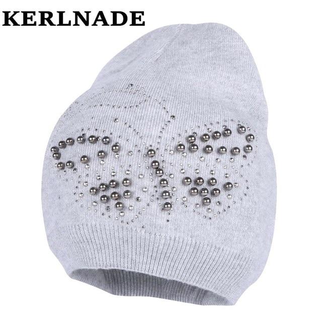 women wool winter hat brand skullies beanies Custom designer luxury  rhinestone style warmer casual winter hats girl beauty gorro 4fbd336c63