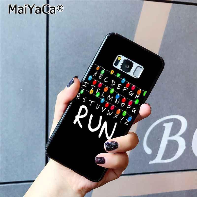MaiYaCa TV étranger choses modèle TPU coque de téléphone noir pour Samsung Galaxy S9 plus S7 edge S6 edge plus S5 S8 plus étui
