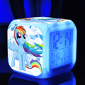 Сенсорный свет Принцесса Маленькая Лошадка игрушки хобби Цифровой ledclock Термометр Ночь Красочный Светящиеся игрушки игрушки фигурки