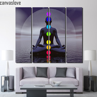 4 Piece Canvas Art HD Printed Meditation Zen Buddhism Posters And Prints Wall Pictures For Living