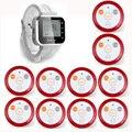 Branco Relógio Pager Serviço de Garçom Sistema de Chamada de Serviço Do Sistema (KR-C166) para o Restaurante + 10 pcs F64 Transmissor Sem Fio