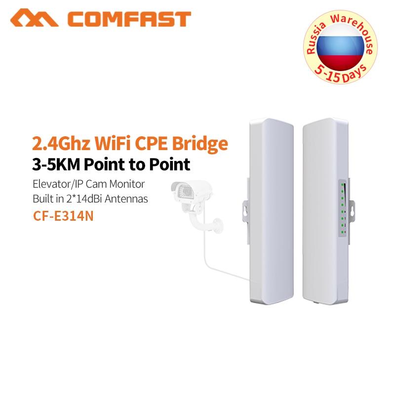 COMFAST 300 Mbps Extérieure CPE 2. 4G wi-fi Point D'accès Sans Fil Pont 1-3 KM Range Extender Routeur CPE Pour IP Caméra CF-E314N