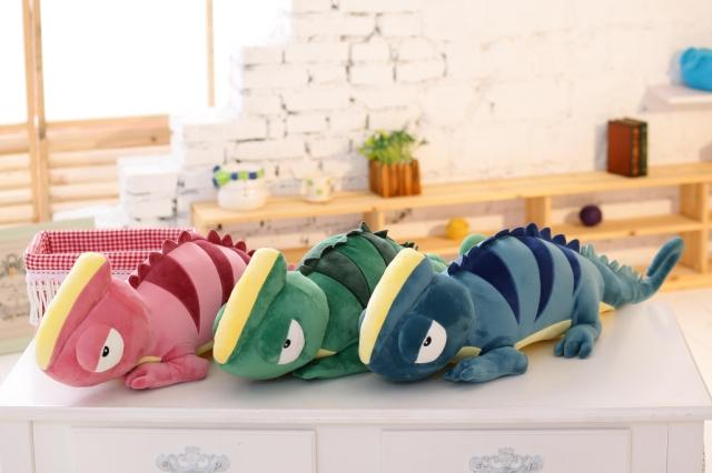ФОТО 1m character green chameleon personality doll plush toy pillow cushion doll large birthday gift
