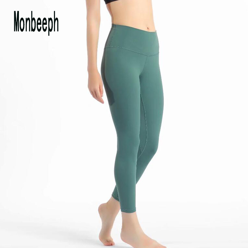Monbeeph Brand New Size XXS-XL Pencil Pants Blue Black Gray Skinny Leggings Elastic Waist Ankle-Length Pants