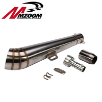 Mzoom 48 8MM Modified Motorcycle Exhaust Pipe Stainless Steel Fried Tube Gp Exhaust Pipe