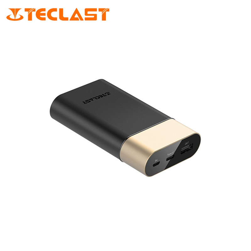 Teclast 10000mAh Small Size POWER BANK Quick Charge 2 0 Dual Input Portable External Battery Bank