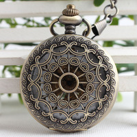 Vintage Classic Steampunk Bronze Pocket Watch Men Auto Stainless Steel Mens Woman Mechanical Pocket Watch TJX084