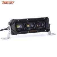 Super Bright 7 Inch 30W LED White Amber Front Bumper Light Bar With Screw For Car SUV ATV UTV Motorcycle Fog Light 12V 24V