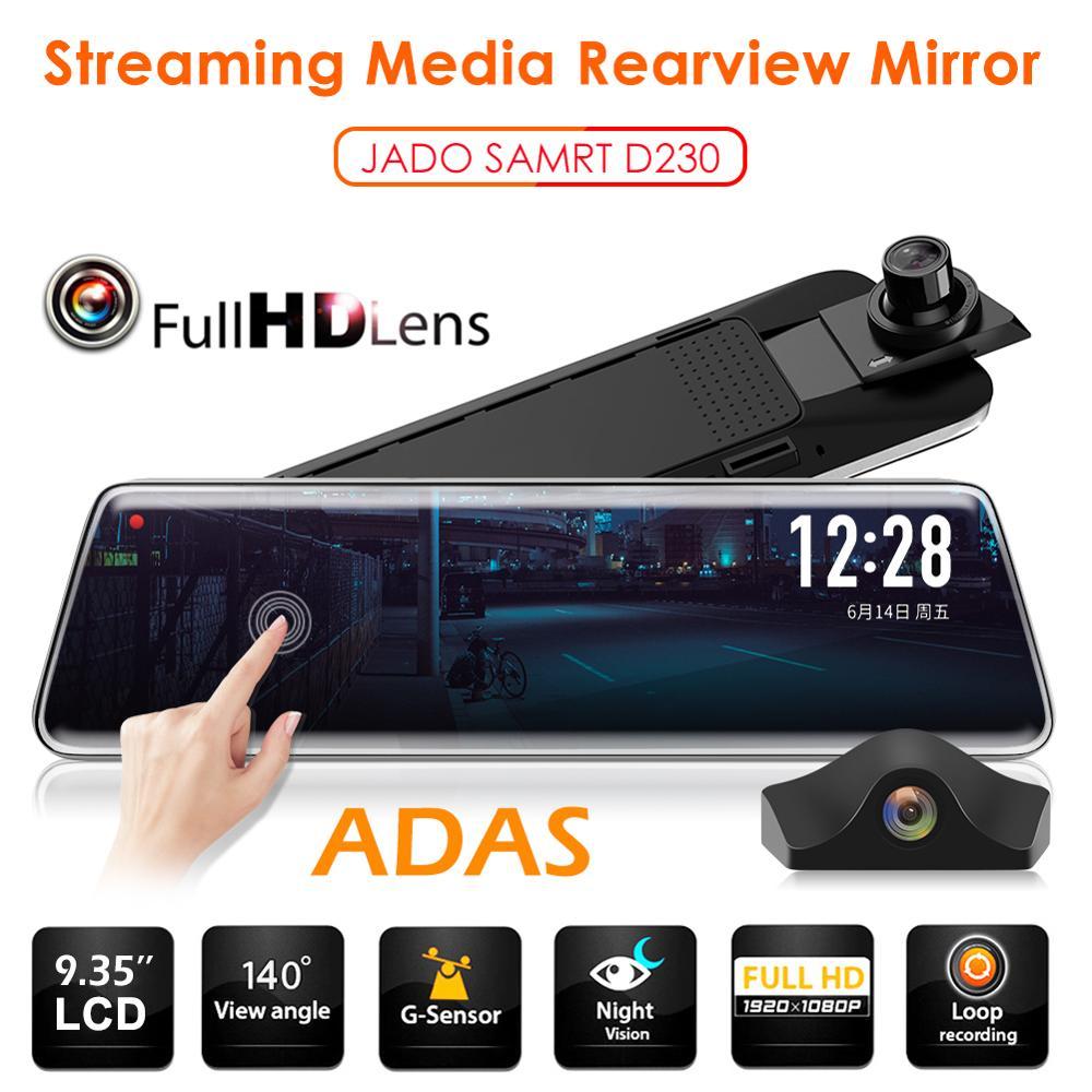 JADO Rearview-Mirror-Camera Car-Dvr-Recorder Dash-Cam Registrator Automobiles Streaming