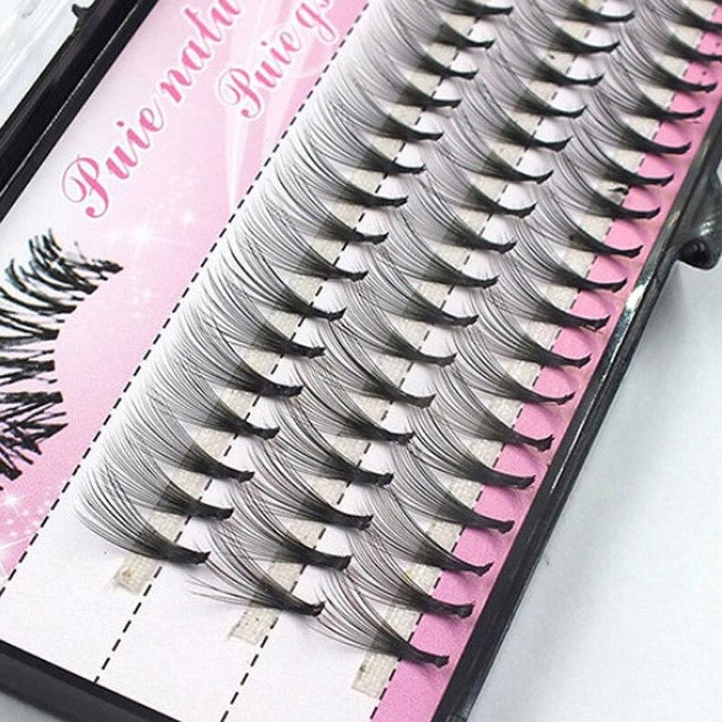 60pcs Individual Cluster Fake False Eyelashes Graft Long Extension Eye Lashes Cosmetics Tool