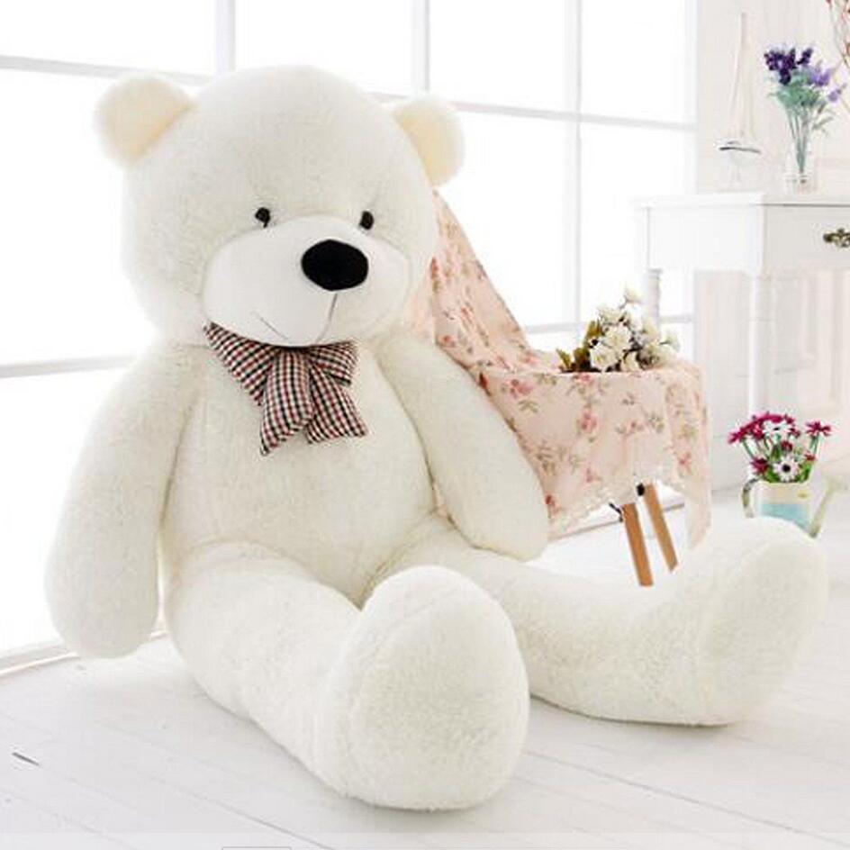47''Giant Big milzīgs balts rotaļlācītis plīša lelle bērniem dāvana 120cm