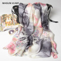 Large Size Women Silk Scarves Shawl