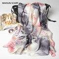 Mulheres de grande porte lenços de seda do xaile