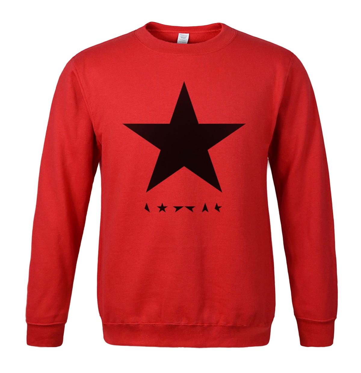 David Bowie heroes black star posters print sweatshirt 2019 hot sale spring winter fashion men hoodies hip hop style streetwear