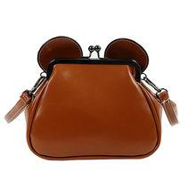 New Women Crossbody Bag Famous Brand Leather Clip Mouse Ears Chain Shoulder Messenger Bag Girls Funny