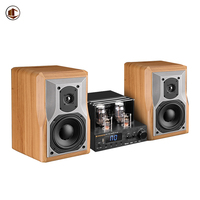 KH980 Wood Bookshelf Speakers Hifi Power Amplifier Sound Multiroom Party Professional Audio 2.1 Home Theater Speaker System