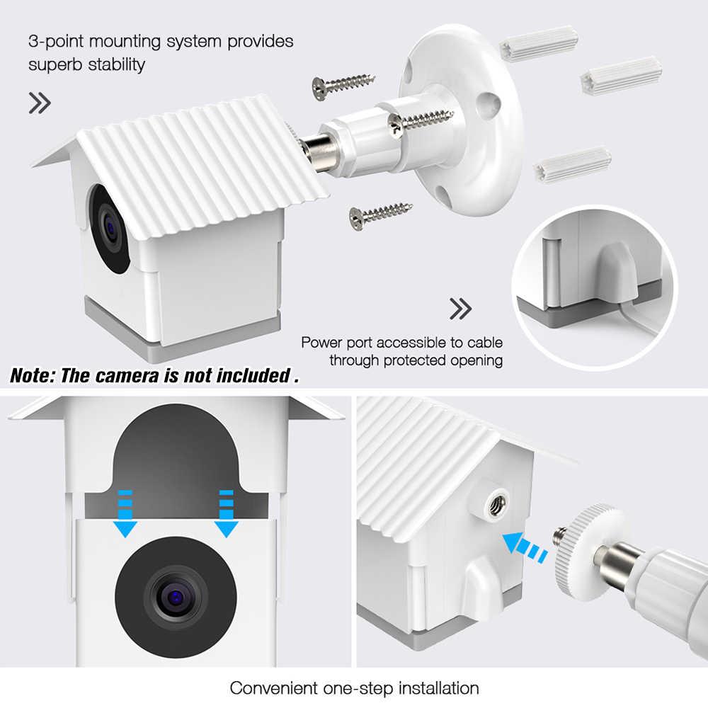 Soporte de Pared para c/ámara Wyze BECROWMEU Wyze protecci/ón contra la Intemperie de 360 Grados, Ajustable para Interior y Exterior